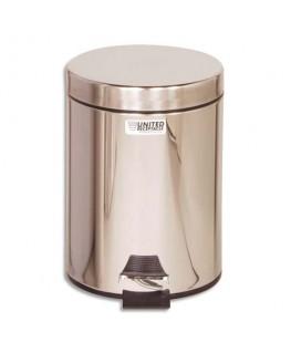Poubelle collecteur en métal 5.6 litres bac plastique avec couvercle inox