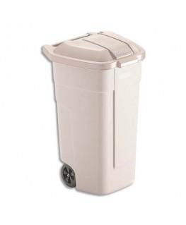 Conteneur carré à roues 100 litres beige - Rubbermaid®