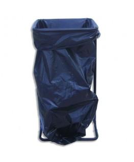 Support sac-poubelle métal noir capacité 110 à 130 litres sans roulettes