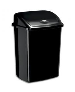 Poubelle à couvercle basculant noire 50 litres