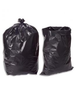 Boîte de 100 sacs-poubelles 100 litres noir pour gravats 140 microns