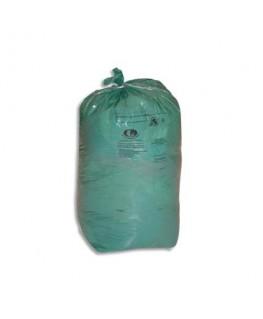 Carton de 8 rouleaux de 25 sacs-poubelles 110 litres vert 30 microns