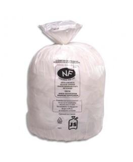 Boîte de 500 sacs-poubelles blanc top qualité NF 20 litres 18 microns