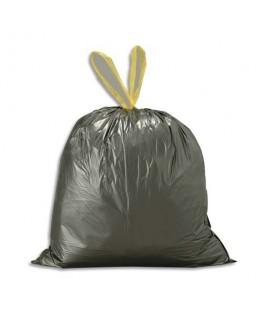 Boîte de 500 sacs-poubelles noir 30 litres avec liens coulissants 25 microns