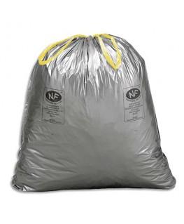 Boîte de 100 sacs-poubelles à liens coulissants standards 30 litres 25 microns