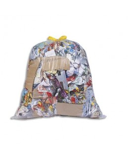 Boîte de 100 sacs-poubelles à liens coulissants transparents 30 litres 21 microns
