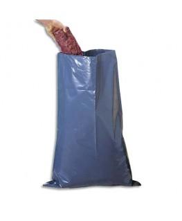 Lot de 50 sac à gravats en polyéthylène gris 50 litres 140 microns