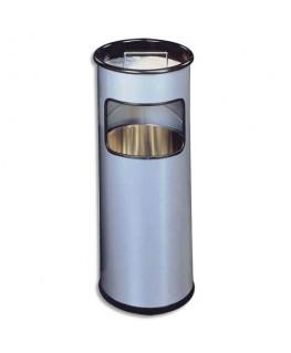 Corbeille ronde avec cendrier sable argenté 17+ 2 litres
