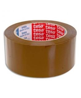 Ruban adhésif d'emballage polypropylène sans solvant silencieux havane 45 microns
