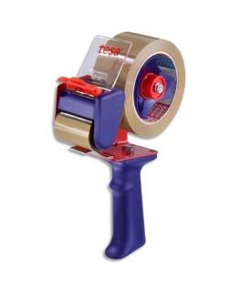 Dévidoir métal violet avec frein corps en plastique réglable pour adhésifs de 66 m et 100 m - Tesa®