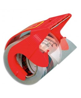 Ruban adhésif d'emballage polypropylène transparent sur dévidoir 75 microns