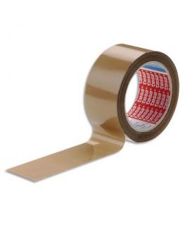 Ruban adhésif d'emballage PVC colle caoutchouc havane 52 microns
