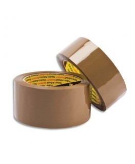 Rubans d'emballage en polypropylène havane 48 microns