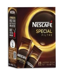 Boîte de 25 sticks de café instantané pur Arabica Espresso de 2g - Nescafé
