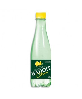 Bouteille plastique d'eau pétillante citronnée de 50 cl - Badoit®