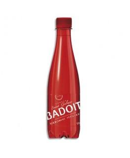 Bouteille plastique rouge d'eau pétillante de 50 cl - Badoit®