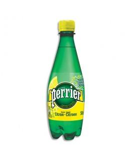 Bouteille plastique d'eau pétillante 50 cl minérale arôme Citron - Perrier®