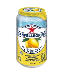 Canette 33 cl de jus pétillant aromatisé Limonata Citron à base de concentré - San Pellegrino®