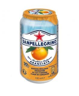 Canette 33 cl de jus pétillant aromatisé Aranciata Orange à base de concentré - San Pellegrino®