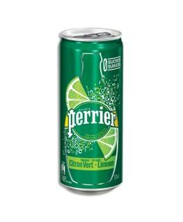 Canette d'eau pétillante 33 cl minérale arôme Citron vert - Perrier®