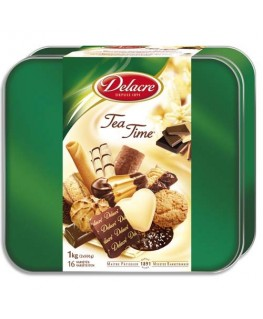 Boîte de 1kg de biscuits Tea Time - Delacre®