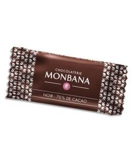 Boîte de 200 chocolats napolitains de 4g 70% cacao emballés individuellement - Monbana