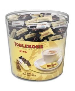 Boîte de 904g Minis Toblerone 3 variétés de chocolat : au Lait