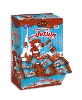Boîte de 80 Petits Oursons guimauve enrobée de chocolat au lait emballés individuellement - Cémoi