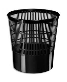 Corbeille à papier ajourée Ecoline 16 litres noir - CEP