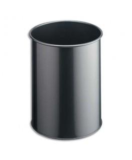 Corbeille à papier Confort métal 15 L gris - Durable