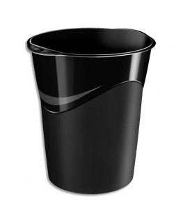 Corbeille à papier capacité 14 L coloris noir - 5 Etoiles