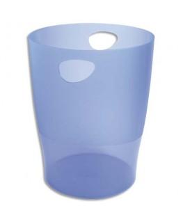Corbeille à papier Iderama 15 L bleu translucide - Exacompta