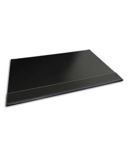 Sous-main à rabat simili cuir 50 x 35 x 1 cm coloris noir - Pavo