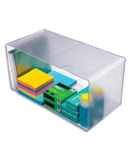 Cube Double Transparent en polystyrène