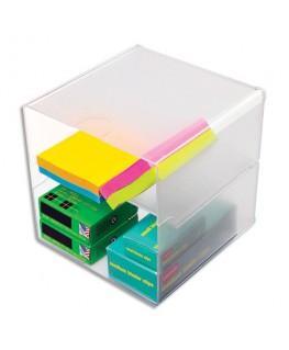 Cube à séparation horizontale Transparent polystyrène