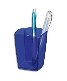 Pot à crayons Happy bleu transparent - CepPro by CEP