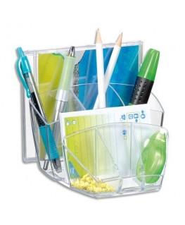 Multipot 8 compartiments en polystyrène coloris Ice cristal - CEP