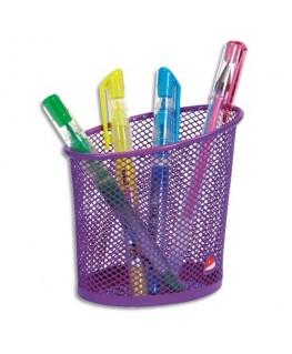 Pot à crayons en métal Mesh coloris violet - Alba