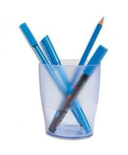 Pot à crayons ECO bleu translucide - Exacompta