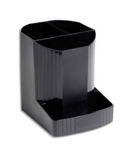 Pot à crayons ECO BLACK en polypropylène recyclé - Exacompta
