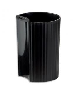 Pot à crayons Loop noir en polypropylène