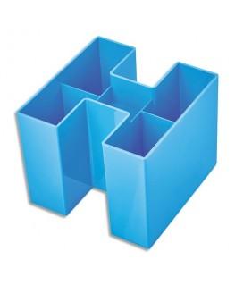 Pot à crayons Bravo Bleu clair en polystyrène 10.9 x 9 x 10.9 cm - HAN