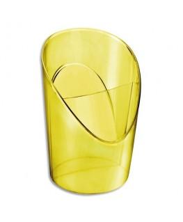 Pot à crayons 2 compartiments COLOUR'ICE en polystyrène jaune - Esselte®