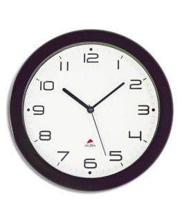 Horloge murale Hornew silencieuse noire