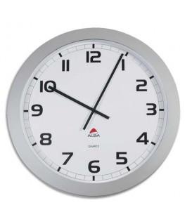 Horloge murale géante Horgiant contour ABS D60 cm gris