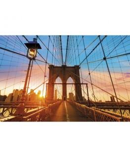 Cadre de décoration illustration Pont de Brooklyn en plexiglas - 98 x 65 x 0.3 cm - Paperflow