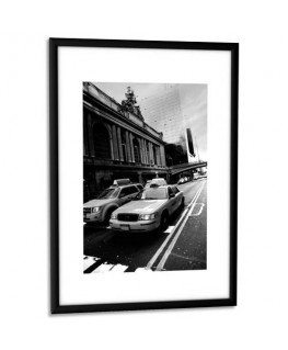 Cadre photo contour aluminium coloris noir