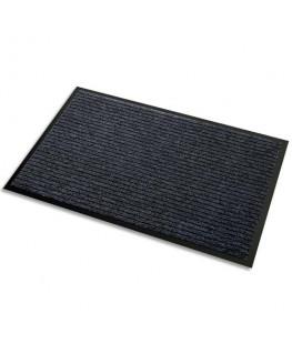 Tapis d'accueil Aqua Nomad 45 noir double fibre grattante et absorbante 90 x 60 cm épaisseur 5.6 mm - 3M