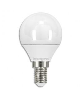 Ampoule LED mini globe opale E14 3.4W blanc chaud - Integral