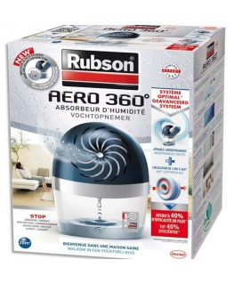 Absorbeur d'humidité Aero 360 degré 20 m2 + une recharge Tab - Rubson®